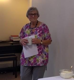 Irene Kohler speaking at Silver Salisbury event Oct 2019